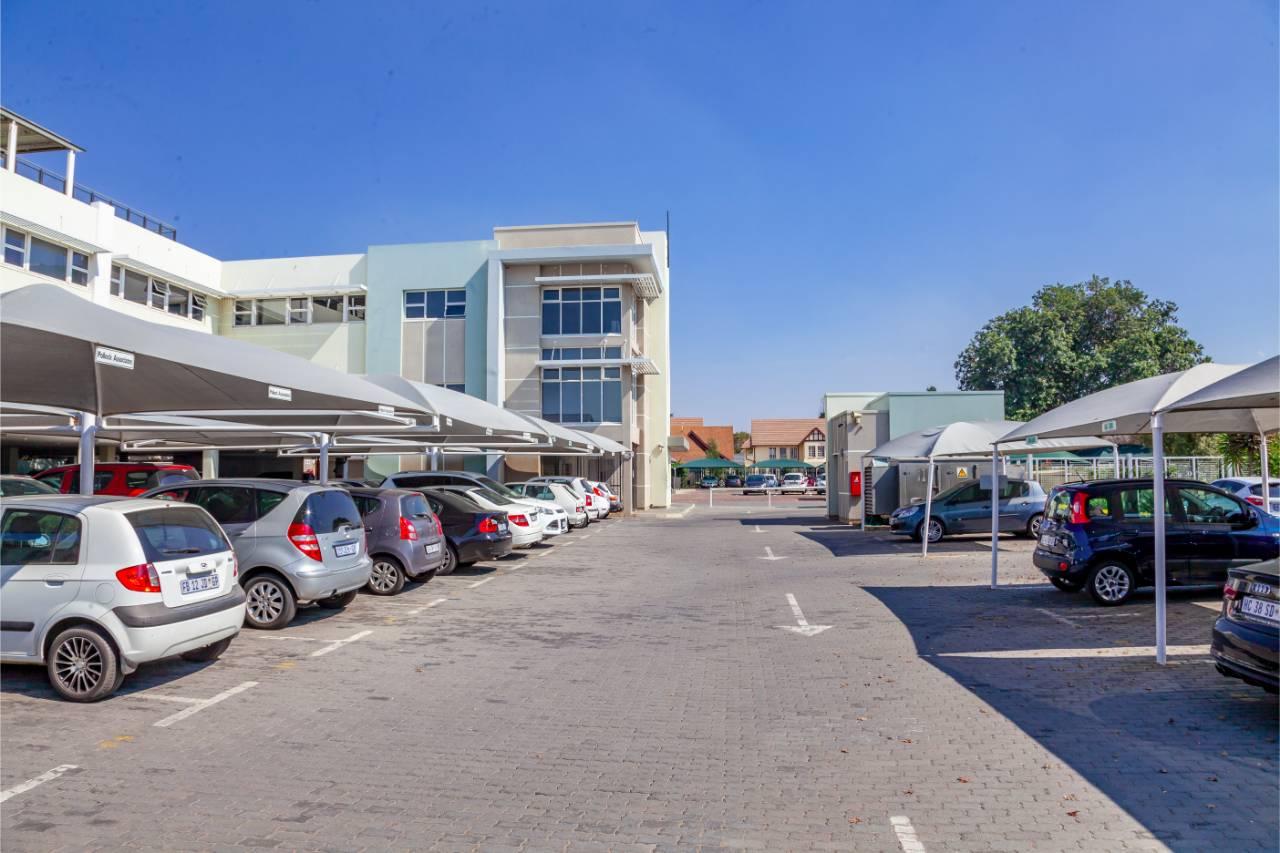 secure parking area - office building
